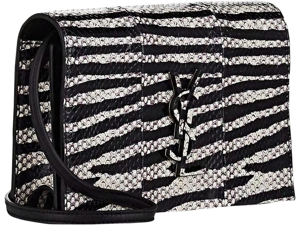 33411dee4f Saint Laurent Shoulder Monogram Logo Snakeskin Cross Body Bag Image 0 ...