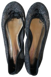 Nine West Glittery Mesh Ballet Casual Summer Black Flats