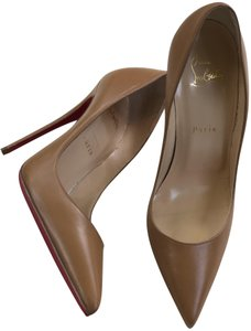 Christian Louboutin Leather So Kate Nude Pumps