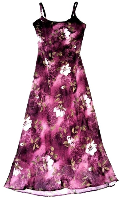 Preload https://img-static.tradesy.com/item/23618183/jessica-howard-plum-floral-spaghetti-strap-crinkle-chiffon-long-casual-maxi-dress-size-petite-6-s-0-1-650-650.jpg