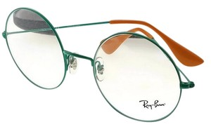 Ray-Ban RX6392-2939-53 Round Unisex Green Frame Clear lens Genuine Eyeglasses
