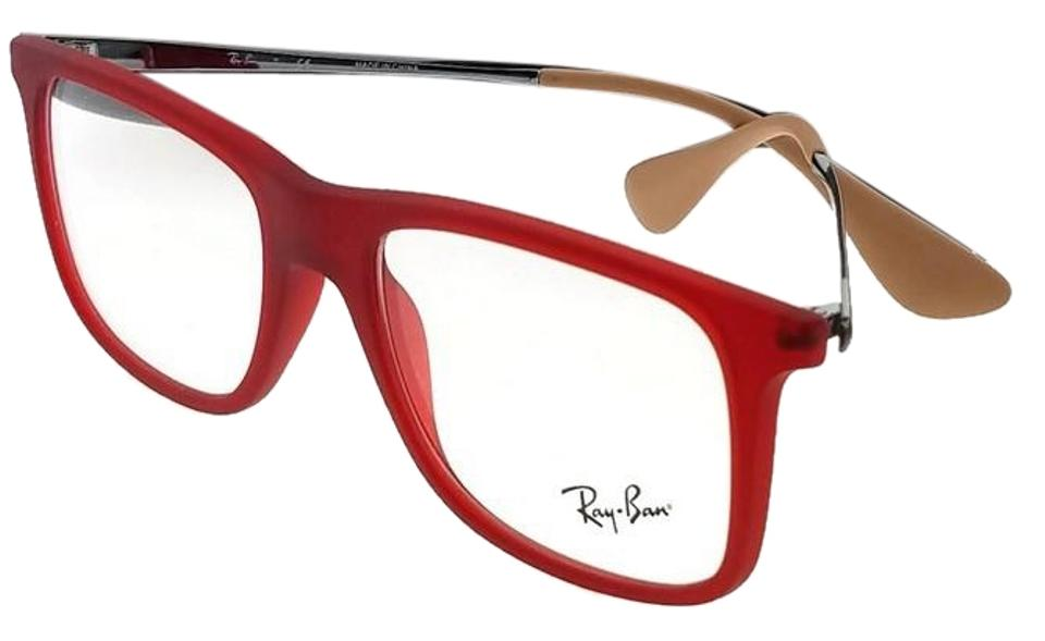 43d66fed5dbf Ray-Ban RX7054-5525-51 Youngster Men's Red Frame Clear lens Genuine  Eyeglasses ...