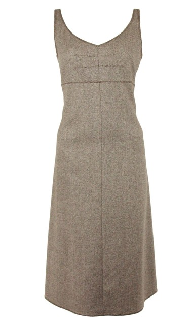 Item - Brown Tweed Mid-length Casual Maxi Dress Size 8 (M)