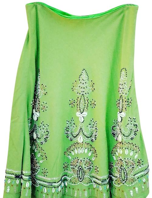 Item - Lime Green Sea Shell Skirt Size 8 (M, 29, 30)