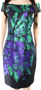 Multi Color Maxi Dress by Rickie Freeman Wiggle Floral Church Pencil