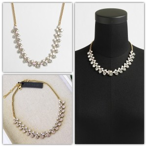 J.Crew Mini-crystal clusters necklace