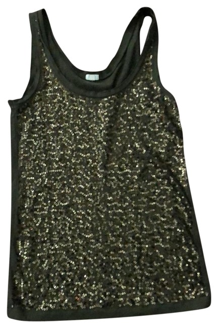 Item - Forrest Green with Bronze Sequined Front Tank Top/Cami Size 2 (XS)