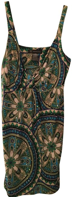 Item - Multi Green and Turquoise Colored Tunic Tank Top/Cami Size 8 (M)