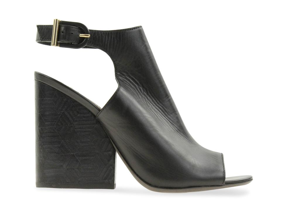 ab8915583 Tory Burch Black Grove Open Toe Mule Wedge Boots Booties Size US 8.5 ...