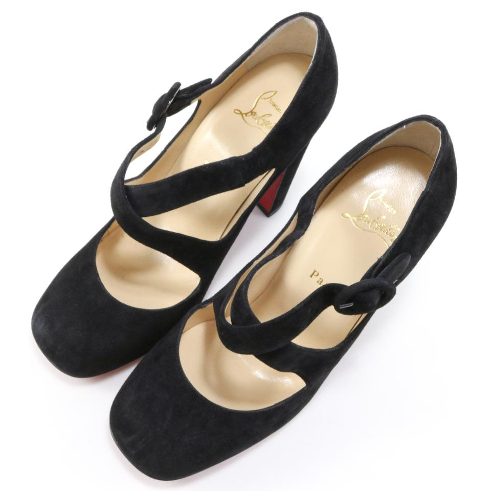 Christian A770 Pumps 100mm Louboutin Miss Black Ellen Suede YqYrvgw