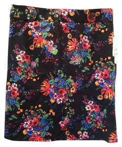 Laundry by Shelli Segal Skirt Black Pink Floral