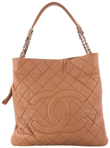 Chanel Timeless Leather Tote in brown