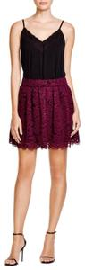 Alice + Olivia Mini Skirt Plum