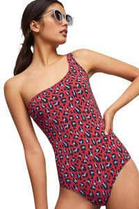 Stella McCartney NWOT Stella McCartney Animal one-shoulder leopard-print swimsuit