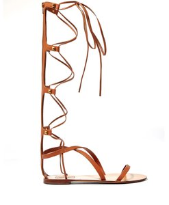 Valentino Rockstud Gladiator Summer Tan Sandals