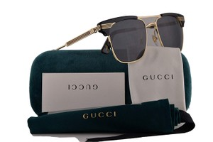 Gucci NEW Gucci GG 0287S Black Wayfarer Logo Stripe Sunglasses Unisex