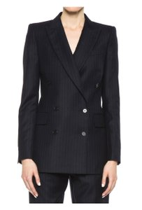 BLK DNM Double Breasted Wool Charcoal grey pinstripe Blazer