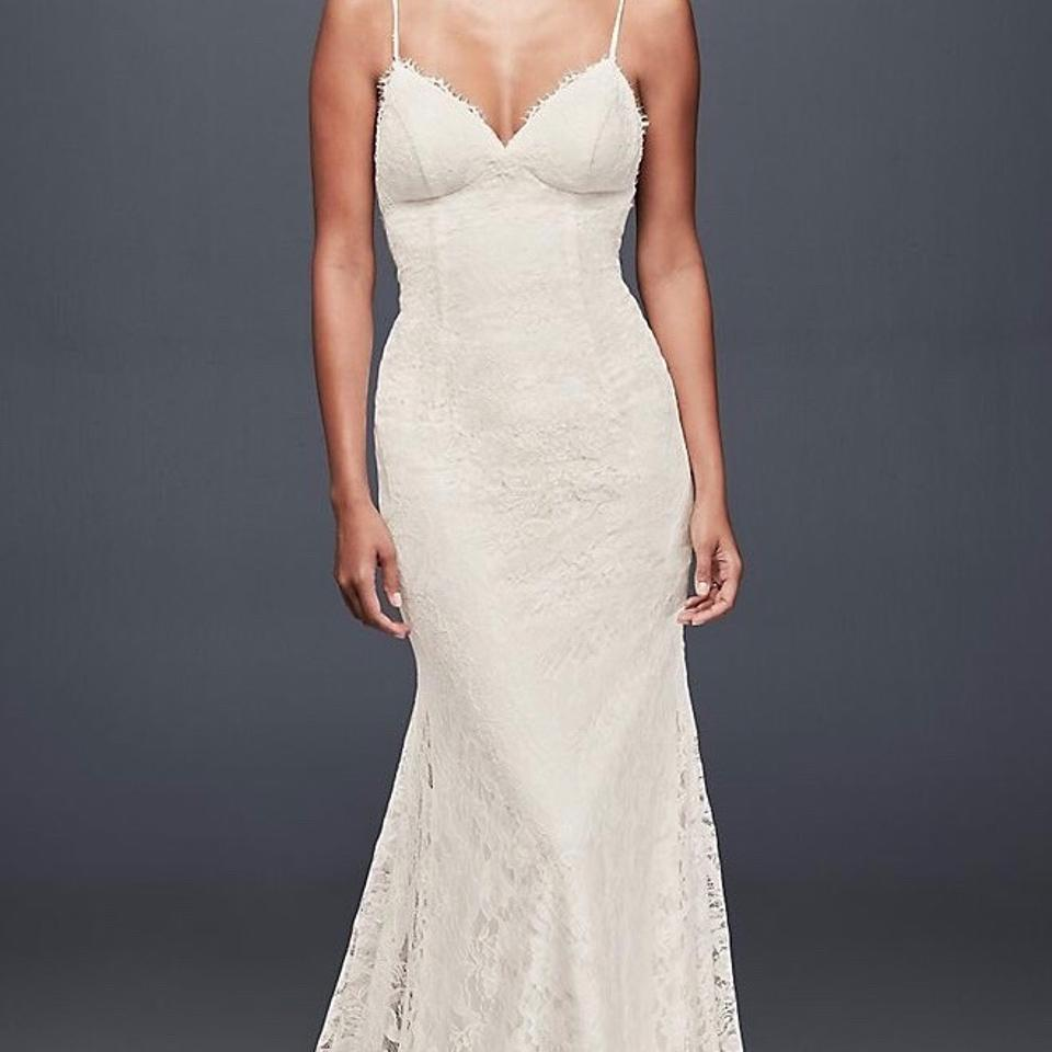 David\'s Bridal Ivory Galina - Soft Lace with Low Back Feminine ...