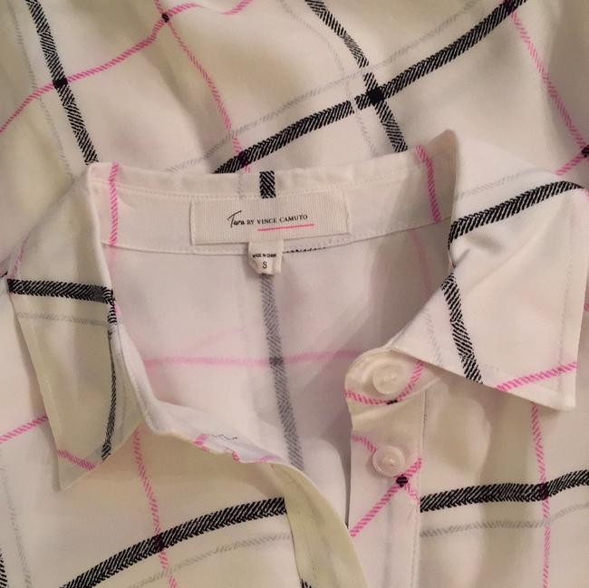 Vince Camuto Top white/black/pink/silver Image 4