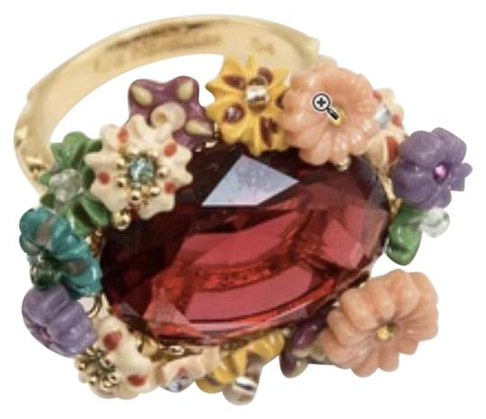 Preload https://img-static.tradesy.com/item/23619398/les-nereides-new-multi-flowers-and-red-cabochon-ring-0-7-540-540.jpg