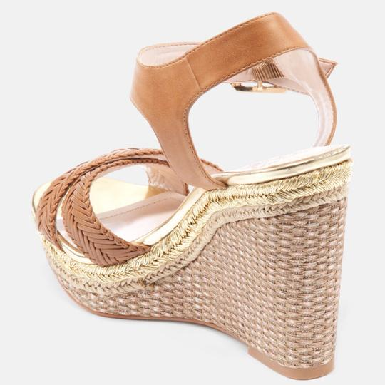 Vince Camuto tan gold Wedges Image 1