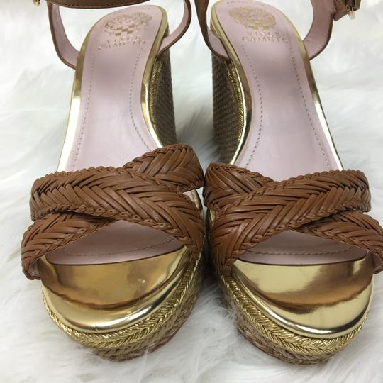 Vince Camuto tan gold Wedges Image 10