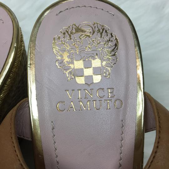Vince Camuto tan gold Wedges Image 11