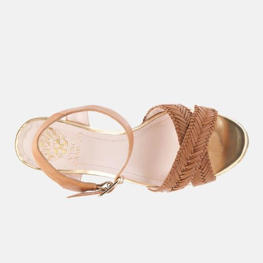Vince Camuto tan gold Wedges Image 2