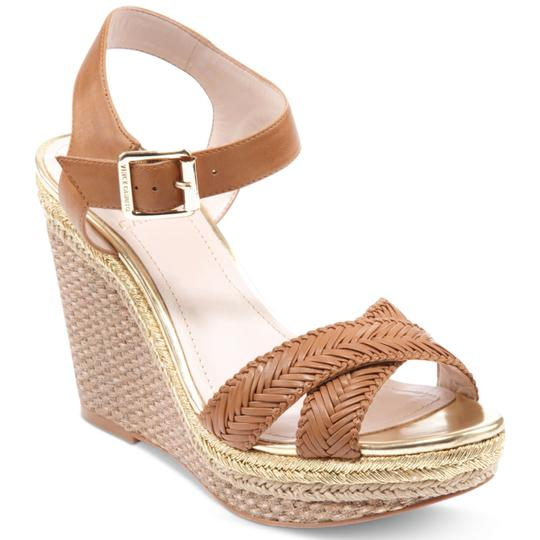 Vince Camuto tan gold Wedges Image 4
