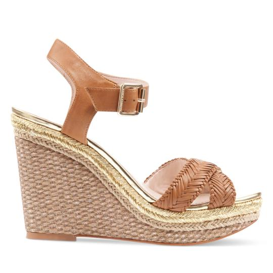 Vince Camuto tan gold Wedges Image 5
