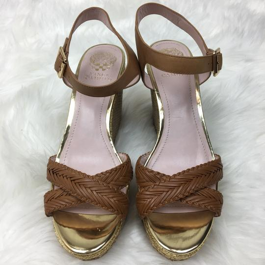 Vince Camuto tan gold Wedges Image 6