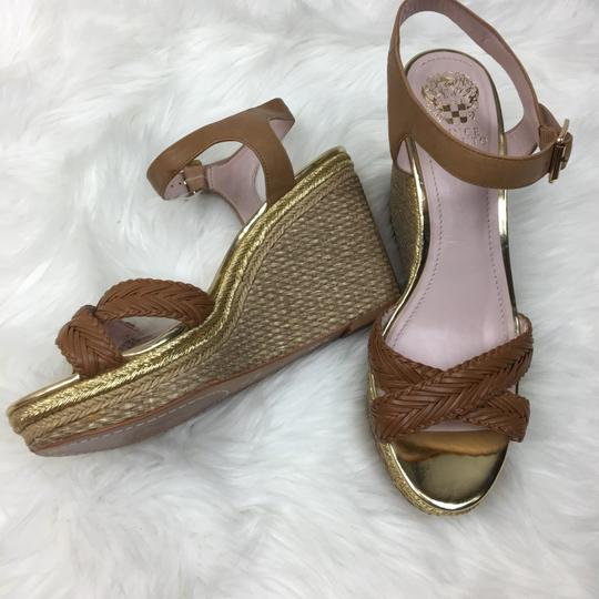 Vince Camuto tan gold Wedges Image 7