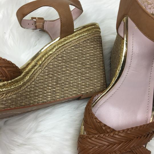 Vince Camuto tan gold Wedges Image 8