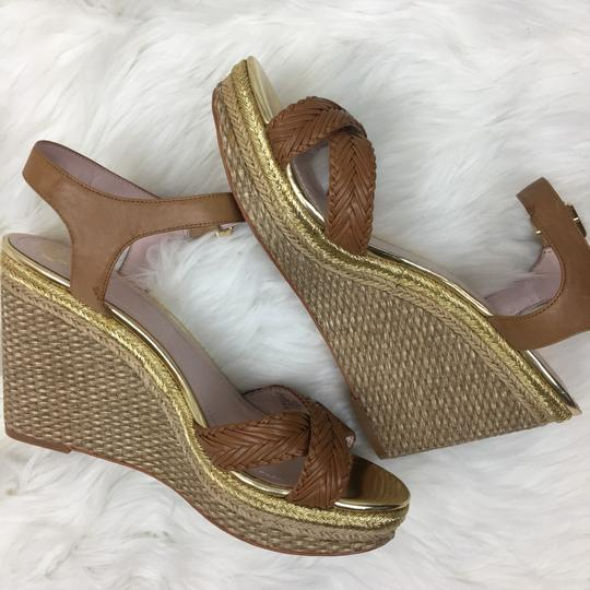 Vince Camuto tan gold Wedges Image 9