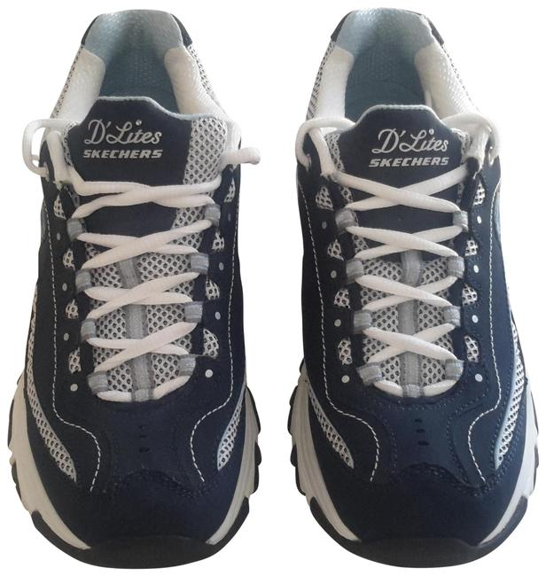 Item - Navy Whte Silver D Lites Classic Sneakers Size US 7.5 Regular (M, B)