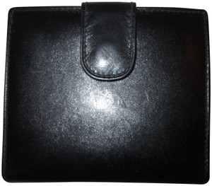 Tiffany & Co. Black Leather Wallet Coin Purse Card Case
