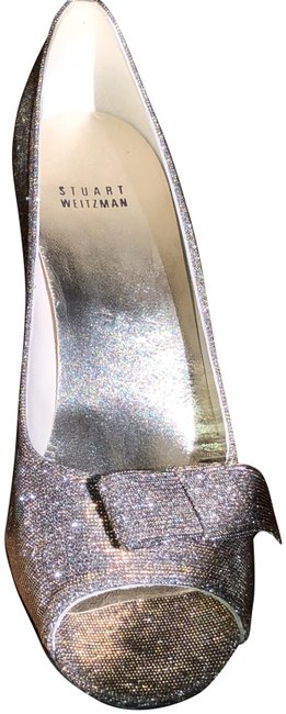 Item - New--on Sale This Week Was 279.00 Silver-rainbow Glitter Party Pumps Size US 10 Narrow (Aa, N)