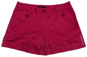 Theory Cuffed Shorts Hot Pink