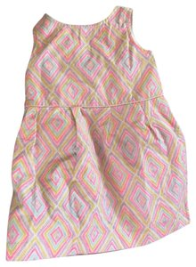 OshKosh B'gosh short dress pink yellow blue on Tradesy
