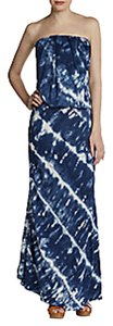 blue multi Maxi Dress by Young Fabulous & Broke Maxi Tie Dye Summer Evening