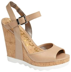 Sam Edelman Nude Wedges