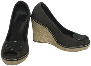 Tory Burch Espadrille Chocolate Wedges