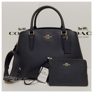 Coach Set Matching Set Gift Set Blue Leather Suede Satchel in Midnight