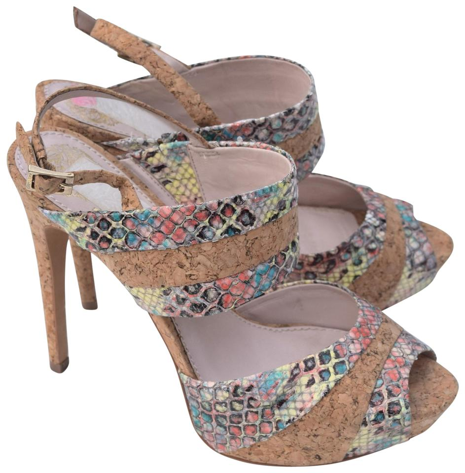 Vince Cork Camuto Cork Vince Multi Color Jivana Sandals c7f12c