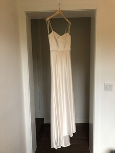 Catherine Deane for BHLDN Ivory Charmeuse Gina Gown Modern Wedding Dress Size 8 (M)