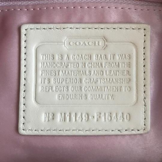 Coach Ashley Hang Tag Attached Satchel in Brass/Cream/Beige Image 4