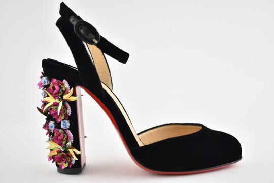 Christian Louboutin Stiletto Classic Madonaflor Embroidered Ankle Strap black Pumps Image 1