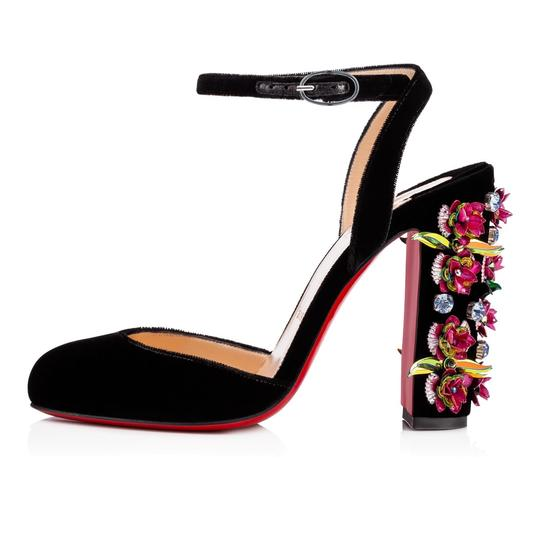 Christian Louboutin Stiletto Classic Madonaflor Embroidered Ankle Strap black Pumps Image 4