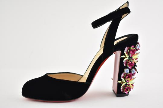 Christian Louboutin Stiletto Classic Madonaflor Embroidered Ankle Strap black Pumps Image 6