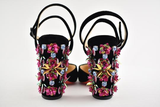 Christian Louboutin Stiletto Classic Madonaflor Embroidered Ankle Strap black Pumps Image 9